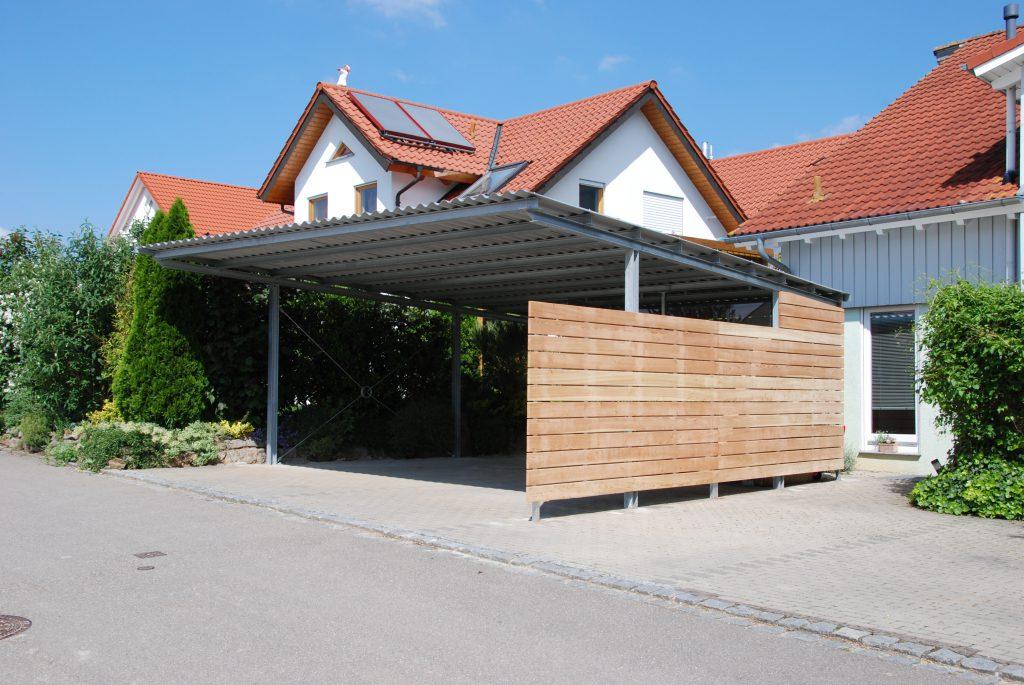 Galerie projekte breischaft holzbau und bedachungen for Holzkonstruktion carport
