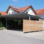 Carport, Stahl, Holzkonstruktion