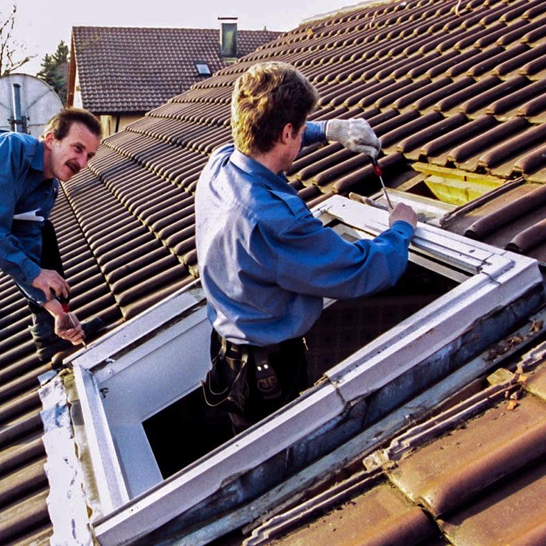 Dachfenster, Dachsanierung