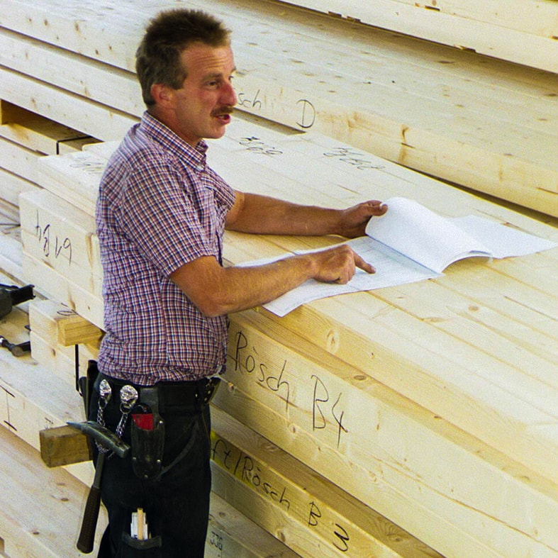 Zimmerer, Zimmermänner, Holz, Holzarbeiten, Fachkräfte