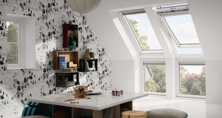 Wohndachfenster mit Fassadenanschluss Velux